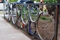 The spokes can easily support climbers, like sweet peas, snow peas, green beans