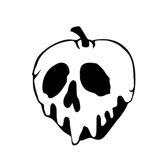 Poison Apple Snow White Decal Bumper Sticker Coffee Cup