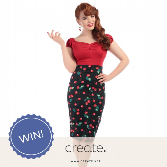 #WIN this amazing Fiona cherry print pencil skirt from fantastic online store Flamingo Boutique! Head over to the Create Facebook page to enter! Facebook.com/create #FreebieFriday