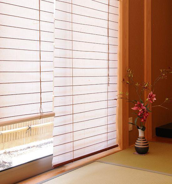 楽天市場】和室カーテン【カラー障子風スクリーン 1800×1800】【送料 ... 障子カーテン