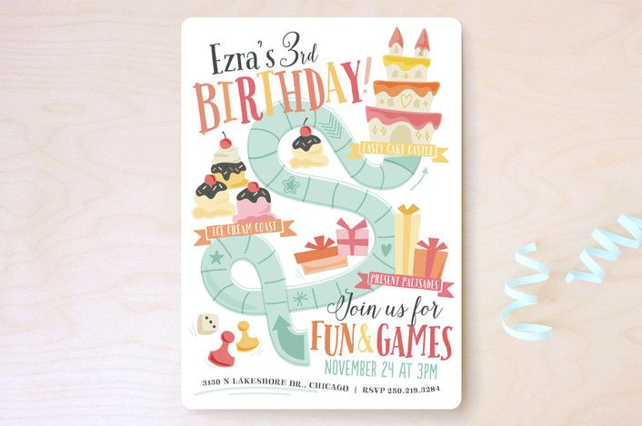 Fun & Games Children's Birthday Party Invitations... | Minted