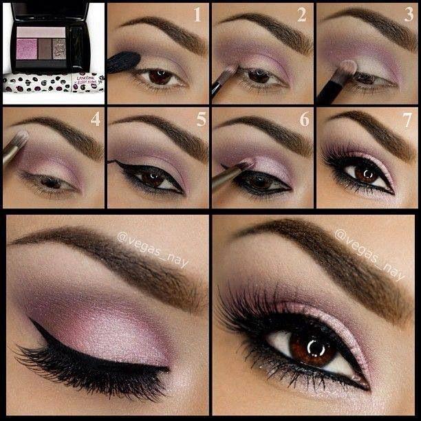 Winter Makeup: Winged EyeLiner Smoked Pink Eyeshadow