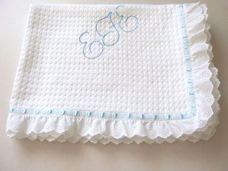 Baptism Baby Blanket White Cotton Lace Embroidered Eyelet Personalized Pique Blanket Boy Girl Shower Gift Crib Stroller Toddler Blanket by VirgoCottonLinen on Etsy #BabyBoy #BoyGift #BabyGift #Baptism #BabyShower #GreekLinens
