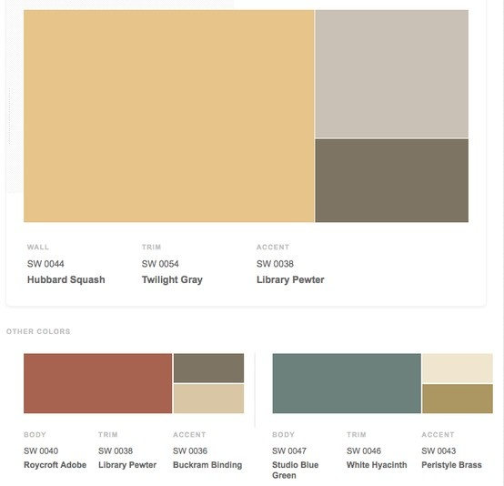 arts crafts 1900s historical shades of interior paint colors from. Black Bedroom Furniture Sets. Home Design Ideas
