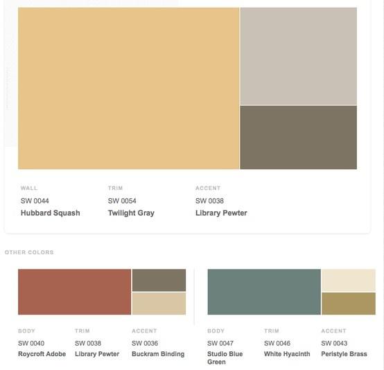 arts crafts 1900s historical shades of interior paint. Black Bedroom Furniture Sets. Home Design Ideas