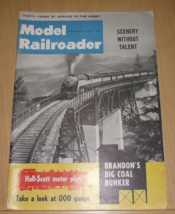 Model Railroader Feb 1964 by DaytonaVintage on Etsy, $6.45