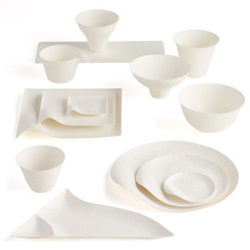 Beautiful disposable tableware.  I will get these for my next bookclub.  Not as much mess to clean up!