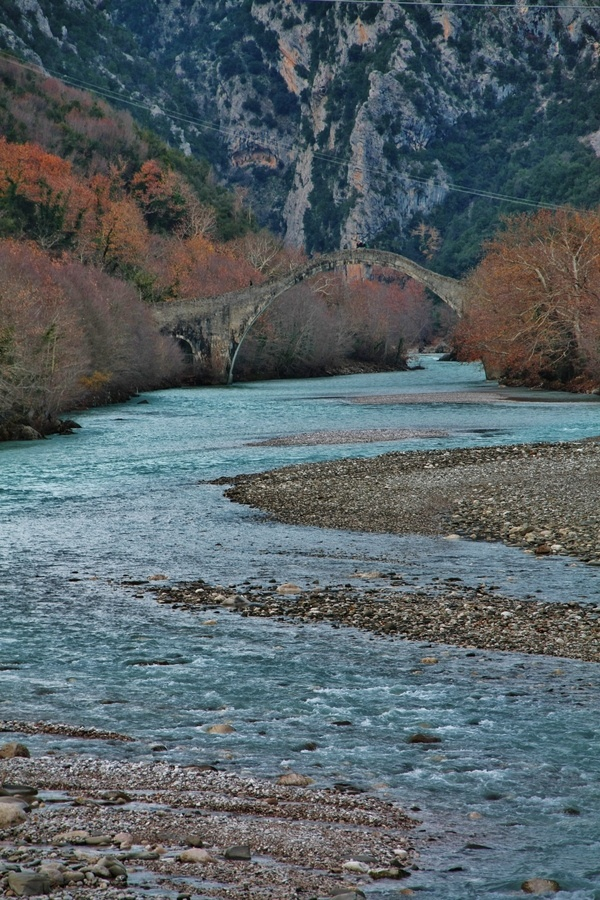 Old bridge at Tzoumerka, Greece