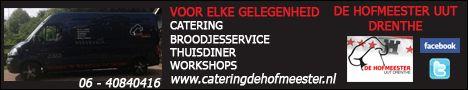 Banner gewijzigd voor De Hofmeester uut Drenthe. Een vergadering, receptie, verjaardag, trouwerij, of zomaar een feestje. Kortom wat voor gelegenheid u ook heeft, of het nu een zakelijke of particuliere aangelegenheid is, CATERING DE HOFMEESTER UUT DRENTHE staat voor u klaar, ook met advies of hulp bij het samenstellen van de catering. Ook kunt u bij ze terecht voor Saladeschotels, Visschotels Hapjesschotels…