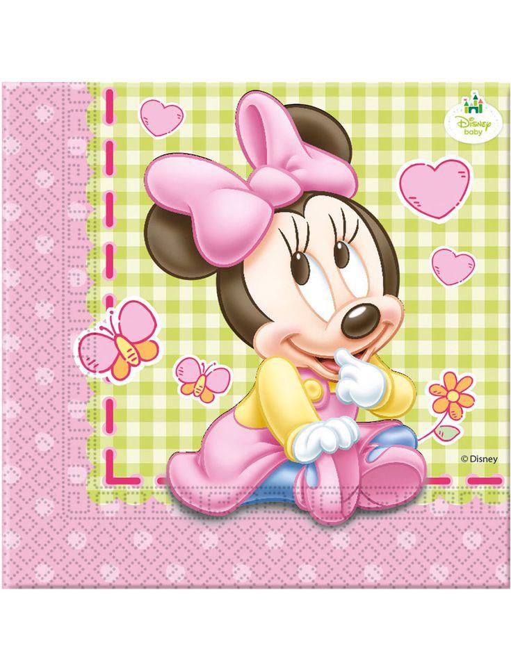 20 Serviettes papier Bébé Minnie ™ 33 x 33 cm