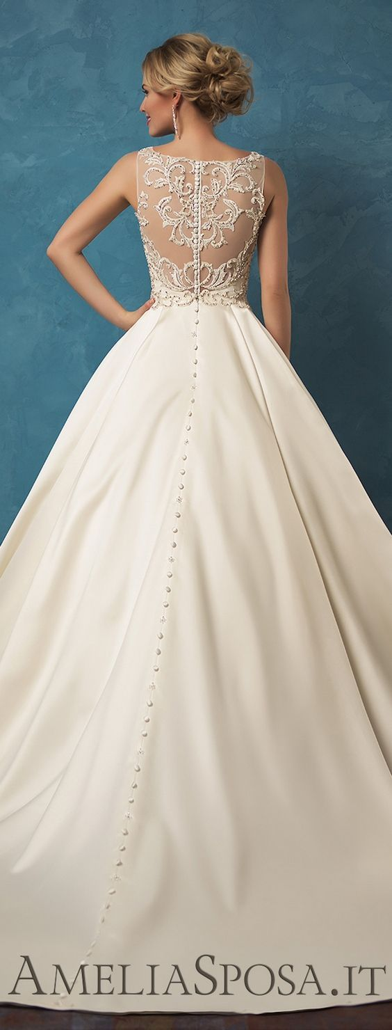 Amelia Sposa 2017 Wedding Dress / http://www.himisspuff.com/top-100-wedding-dresses-2017-from-top-designers/12/
