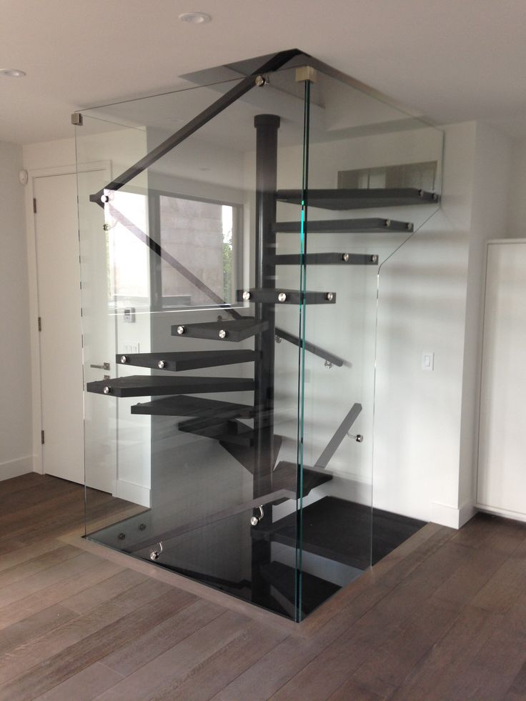 Best Enclosed Floating Square Spiral Staircase Stairs Design 640 x 480