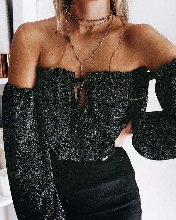 how cute is this?! | layered necklaces off the shoulder top fashion inspiration, casual, everyday, day to night, date outfit, minimalist, minimalism, minimal, simplistic, simple, modern, contemporary, classic, classy, chic, girly, fun, clean aesthetic, bright, white, pursue pretty, style, neutral color palette, inspiration, inspirational, diy ideas, fresh, street style, on point, trendy, on trend, glam, tousled, boho, stylish, 2018, sophisticated