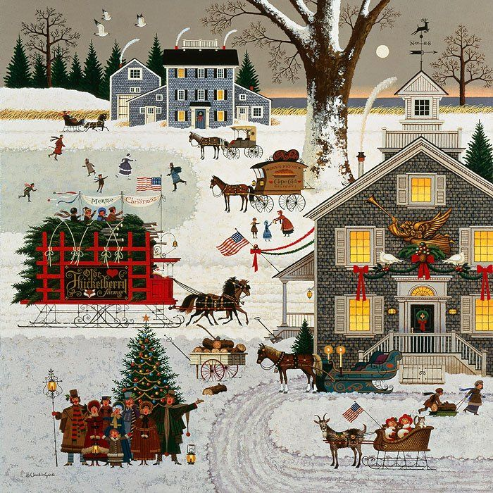Cape Code Christmas by Charles Wysocki Limited Edition CanvasImage…