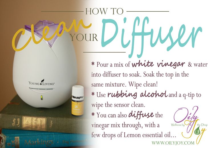 How to clean your diffuser.