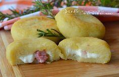 Polpette di patate al forno con stracchino e pancetta