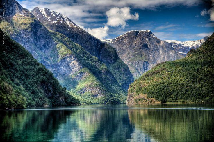 Nærøyfjord, Norway. UNESCO World Heritage