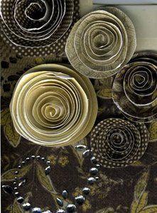 Simple Spiral Flowers # Paper #craft # DIY # +++ SENCILLAS FLORES DE PAPEL EN ESPIRAL # DECORATIVAS