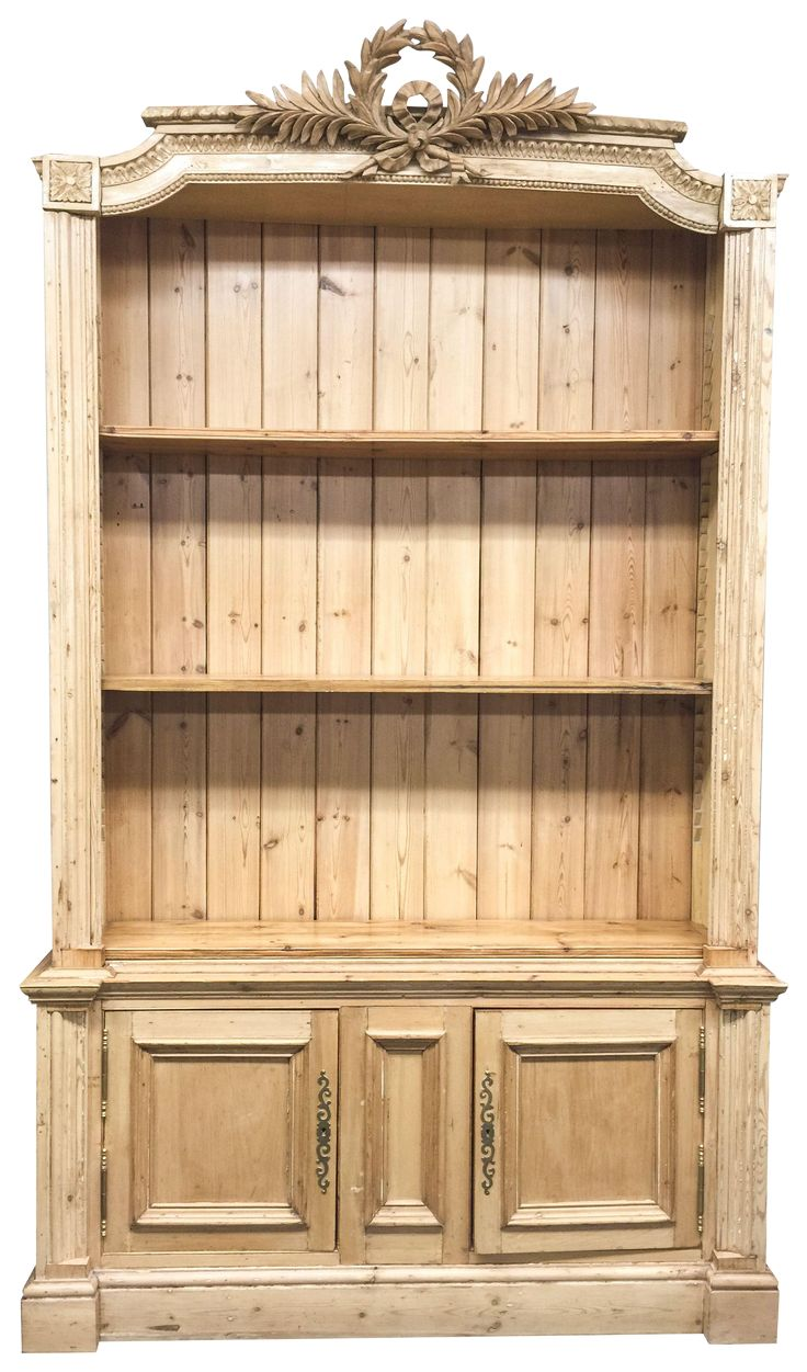 Antique French Pine Bookcase