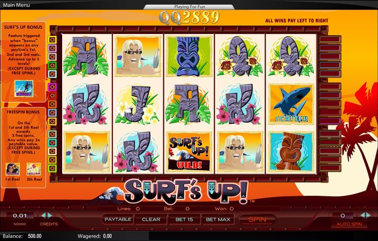 Review Slot Games Surf Up di QQ2889