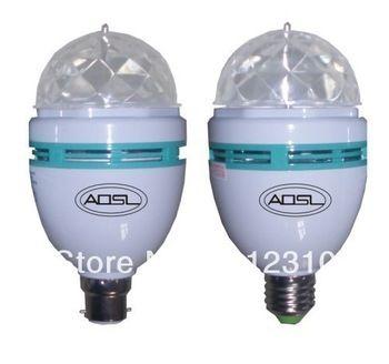 $8.18 (Buy here: https://alitems.com/g/1e8d114494ebda23ff8b16525dc3e8/?i=5&ulp=https%3A%2F%2Fwww.aliexpress.com%2Fitem%2FRGB-Full-Color-3W-E27-LED-Bulb-Crystal-Auto-Rotating-Stage-Effect-DJ-Disco-Light-Bulb%2F32280167288.html ) RGB Full Color 3W E27 LED Bulb Crystal Auto Rotating Stage Effect DJ Disco Light Bulb Mini laser party Stage Light 2pcs/lot for just $8.18