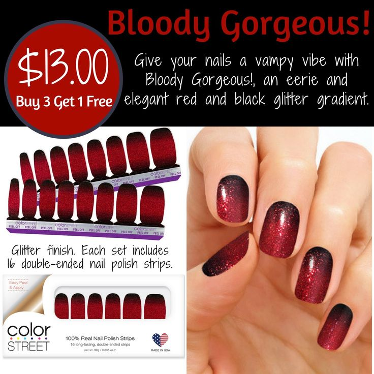 Bloody Gorgeous! Halloween colors! Click on the link to ...