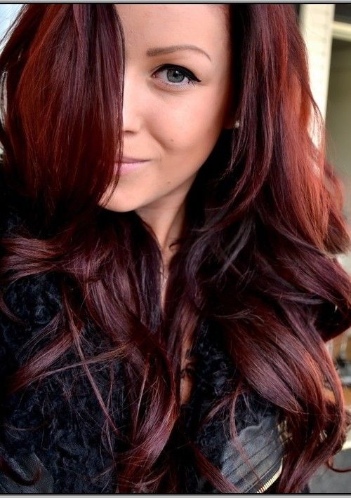 Image result for fall hair color 2016 red