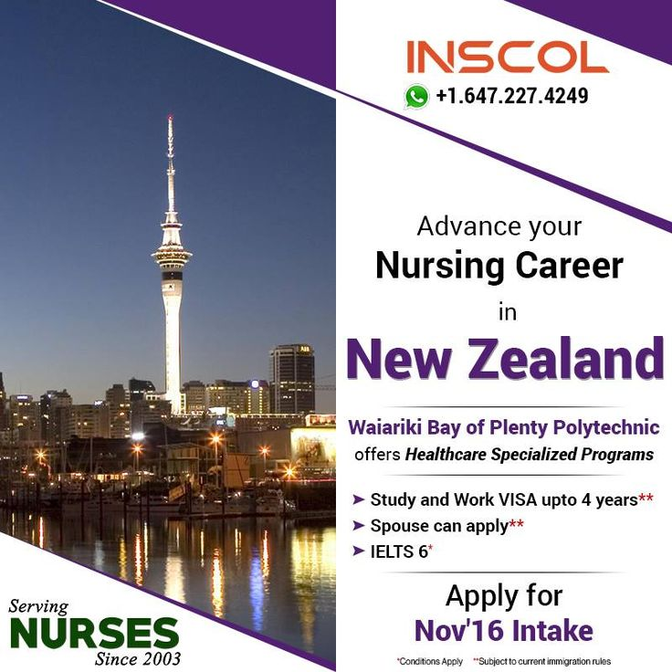 Great Opportunity for #Nurses who wants to 'Study, Work and Live' in #NewZealand. Enroll today!