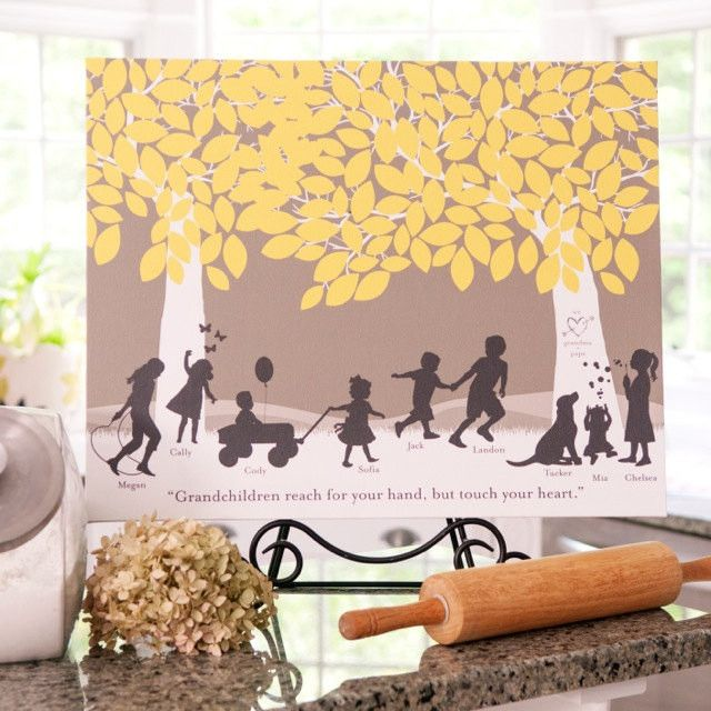 Image result for silhouette art print for grandparents