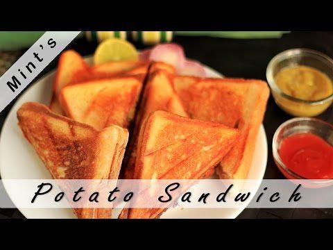 Potato Sandwich Recipe in Hindi-Vegan Indian Recipes-Indian Snacks Recipes-Potato Sandwich-Ep-85 – Video Recipes