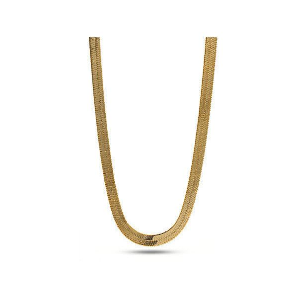 King Ice 5mm 14K Gold Herringbone Chain ($32) ❤ liked on Polyvore featuring men's fashion, men's jewelry, men's necklaces, chain, jewelry, jewelry., gold, mens chain necklace, mens 14k gold chain necklace and mens gold link chain necklace