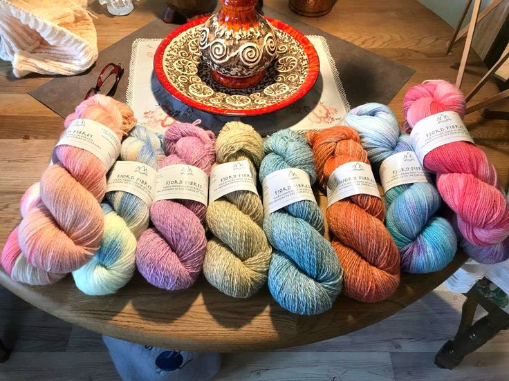 Colorful yarn display