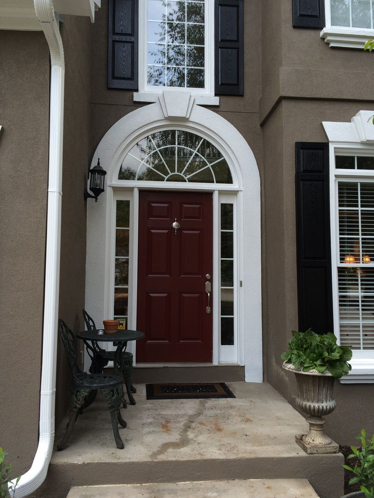 Love My Front Door My Favorite Color Pick Sw 2802 Rookwood Red House Design Garage Doors
