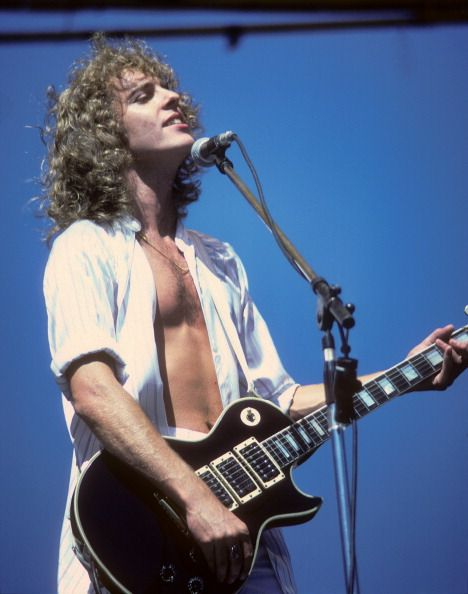 Peter Frampton performs at Oakland Stadium on July 2 1977 in Oakland California