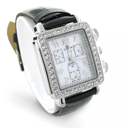 Stainless Steel Square Deco Fashion Watch
