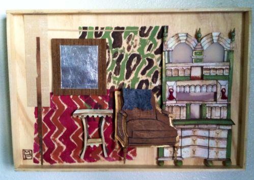 OOAK Shadow Box Vignette Handmade Art Folk Art