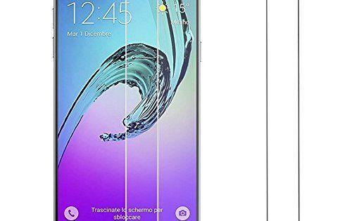 [Lot de 2] Samsung Galaxy A5 2016 verre trempé, Hepooya Film Protection écran Samsung A5 2016 Film vitre en Verre trempé Anti-rayure,…