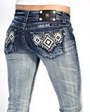 Miss Me Ladies' Aztec Boot Cut Jeans - www.fortwestern.com