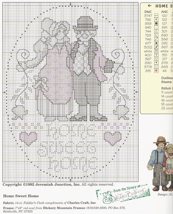 Schema punto croce Bless Our Home 02