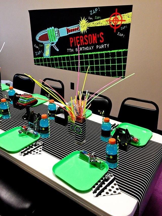 Boys Laser Tag Birthday Party Dining Table Ideas