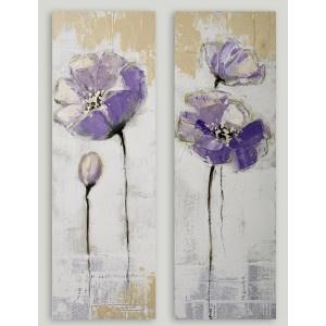 Juego de dos cuadros de flores lilas. preciosos cuadros perfectos para #regalar