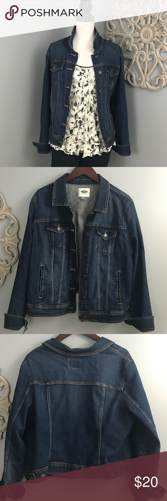 Old Navy | Jean Jacket Get ready for fall in this dark navy jean jacket by Old Navy.  EUC No rips, stains, snags or tears. Old Navy Jackets & Coats Jean Jackets