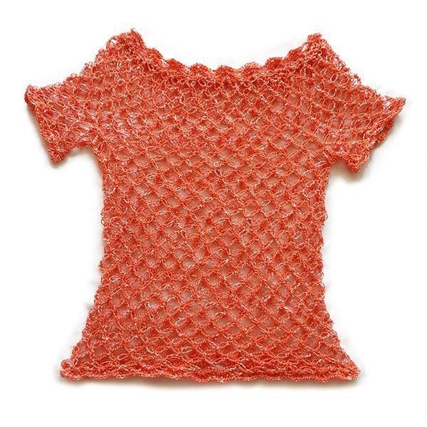 Polera Crochet punto Nudo Salomón - Color Matizada Naranja: Hilo ...