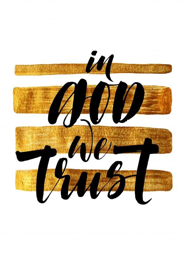 In god we trust | Typografie | Echte Postkarten online versenden…
