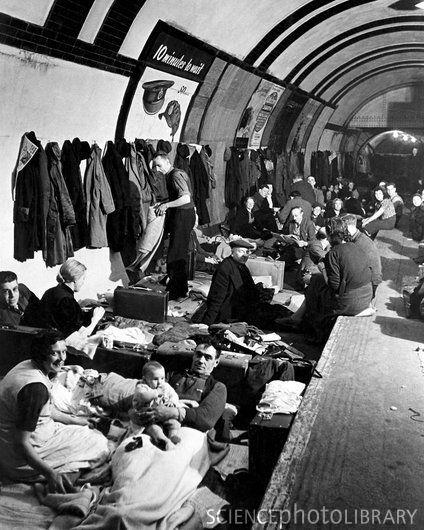 WWII air raid shelter, London Underground