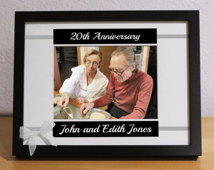 20th Wedding Anniversary, 20th Anniversary Gift for Parents, 20th Anniversary Gift, Custom Picture Frame, Personalized, Anniversary Party by KimKimDesigns on Etsy https://www.etsy.com/listing/251139466/20th-wedding-anniversary-20th