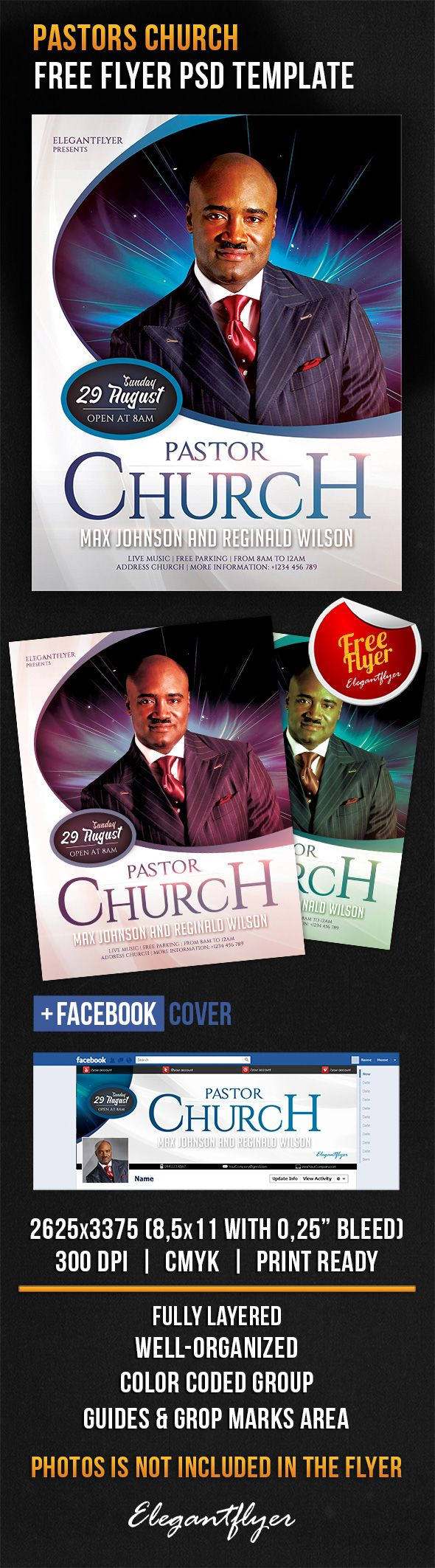 Pastors Church – Free Flyer PSD Template + Facebook Cover https://www.elegantflyer.com/free-flyers/pastors-church-free-flyer-psd-template-facebook-cover/
