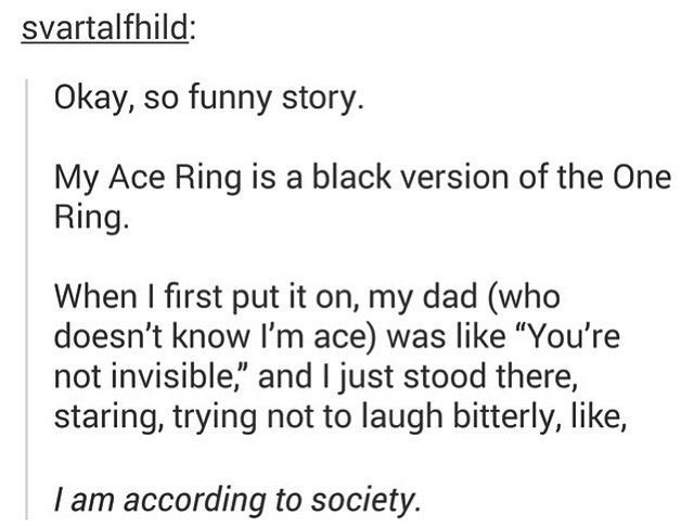Love this 'cause my ace ring is also a black version of the one ring