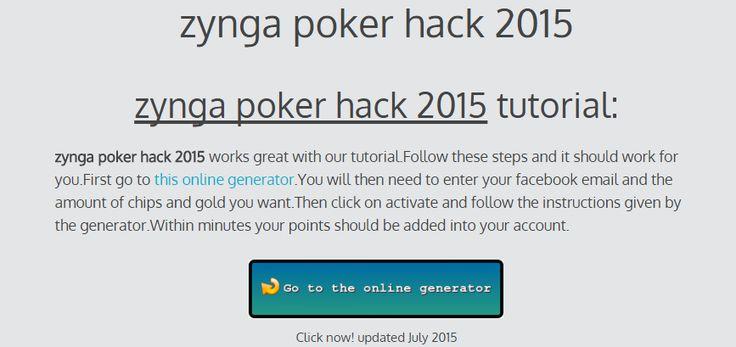 zynga poker hack 2015 | cheats - online generators tutorials