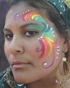 rainbow face painting ideas | Face Painting by Jaia #facepaintingideas